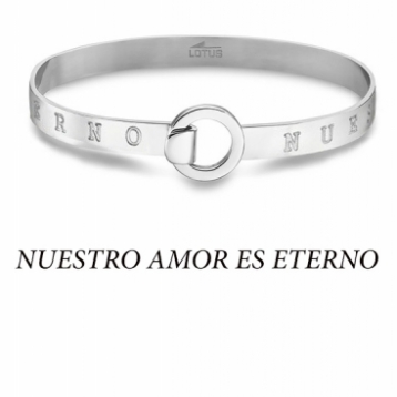"""Pulsera Señora Rígida Lotus Style Acero """"Nuestro Amor es Eterno"""" LS2025-2/6"""