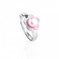 Sortija Niña Plata Perla y Esmalte Rosa 04A.SO1.FL