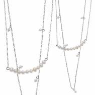 Collar Plata Rodio Doble Perlas de Agua Dulce Salvatore 164C0032