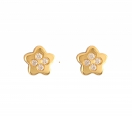 Pendientes Niña Oro Circonitas Estrella 1A 1611/1