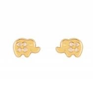 Pendientes Niña Oro Elefante de Circonitas 1A 2041/1