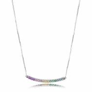Collar Pandora Plata Arco de Amor Multicolor 397079CFPMX