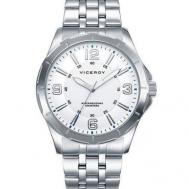 Reloj Viceroy Caballero Acero y Esfera Blanca 40519-85