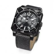 Reloj Viceroy Caballero Esfera Cuadrada y Correa de Piel Negra 432121-55