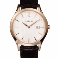 Reloj Viceroy Caballero Cobrizo y Correa de Piel Marrón 46555-05