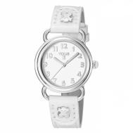 Reloj Tous Niña Baby Bear de Acero Con Correa de Piel Blanca 500350175