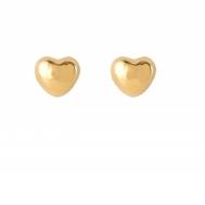 Pendientes Niña Oro Corazón Liso Brillo 5A 5121/1