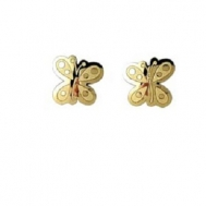 Pendientes Niña Oro Mariposa Brillo-Mate 5AP 472