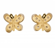 Pendientes Niña Oro Mariposa Brillo-Mate 5CPI474/M