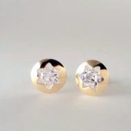 Pendientes Niña Oro Estrella Circonita 61A 1261/2