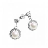 Pendientes Plata Perla Cerco de Circonitas Colgantes Diamonfire 6214561111