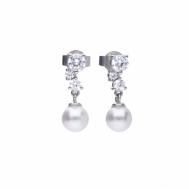 Pendientes Plata Con Perla y Circonitas Diamonfire 6218171082