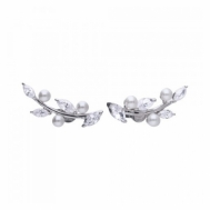 Pendientes Plata y Perla Trepadores Diamonfire 6219461111