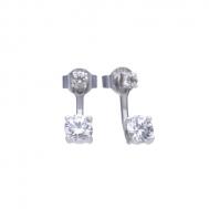 Pendientes Plata Rodiada Circonita Desmontable Diamonfire 6219691082