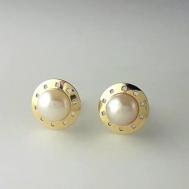 Pendientes Niña Oro y Perla 67A 7361