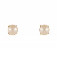 Pendientes Niña Oro y Perla 4 Garras 7A 7002/6P