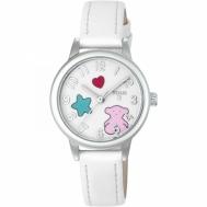 """Reloj Tous Niña """"Muffin"""" Correa de Piel Blanca 800350625"""