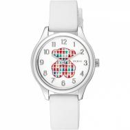 Reloj Tous Tartan Kids de Acero Con Correa de Silicona Blanca 900350235