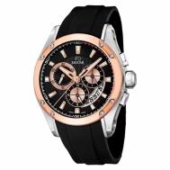 Reloj Jaguar Caballero Bicolor Acero y Cobrizo Caucho Negro J689/1