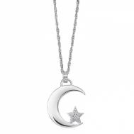 Gargantilla Plata Lotus Luna y Estrella de Circonitas LP1622-1/1