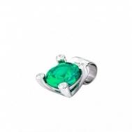 Colgante Plata Lotus Piedra Verde y Circonitas LP1710-1/7