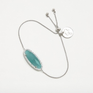 Pulsera Piedra Azul Oval Pertegaz PER2397